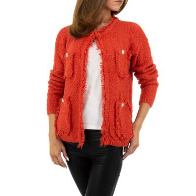 Strickjacke für Damen in Orange