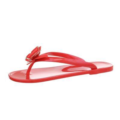 Zehentrenner für Damen in Rot
