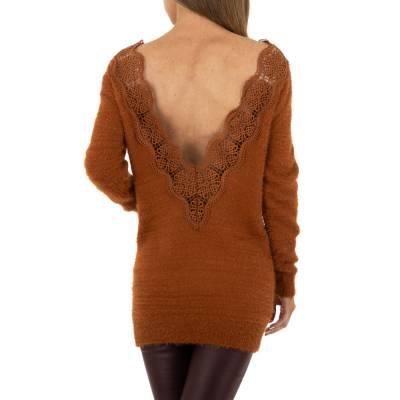 Longpullover für Damen in Braun