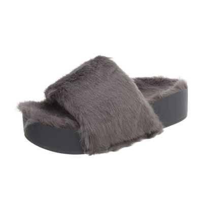 Plateausandaletten für Damen in Grau