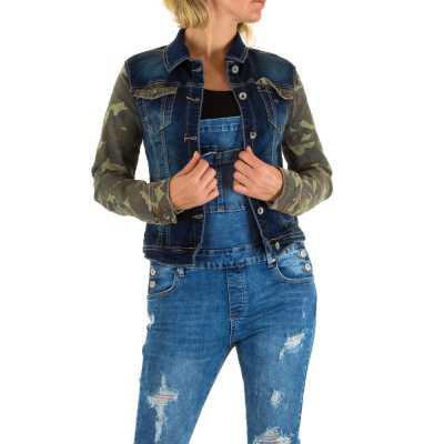 Jeansjacke für Damen in Camouflage
