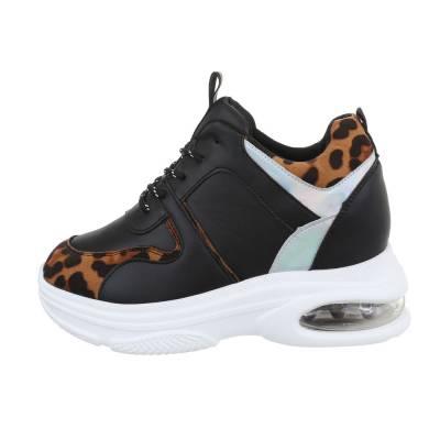 Sneakers low für Damen in Schwarz und Braun