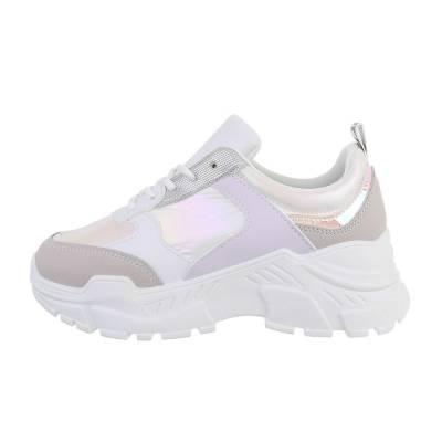 Sneakers low für Damen in Weiß und Lila