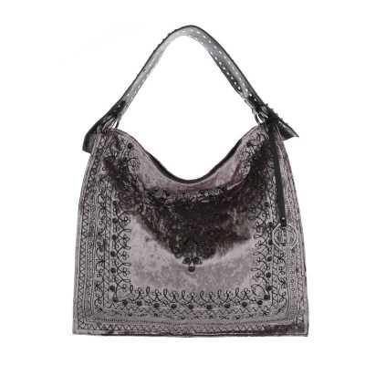 Große Damen Tasche Grau Braun