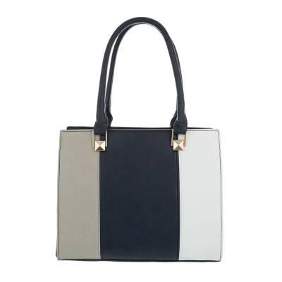 Kleine Damen Tasche Blau Weiß