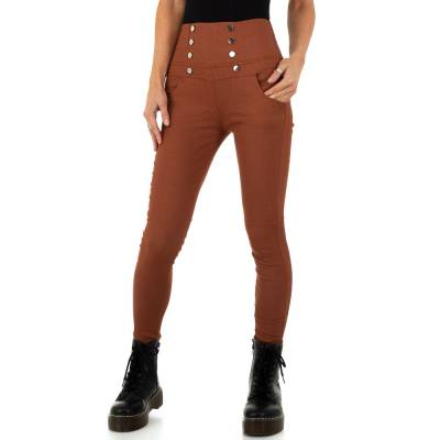 Skinny-Hose für Damen in Braun