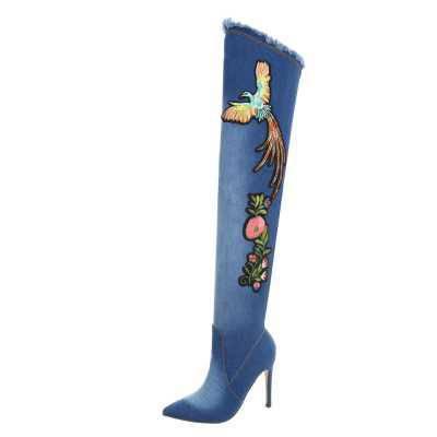 Overknees für Damen in Blau