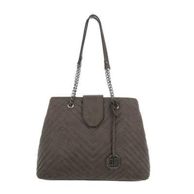 Mittelgroße Damen Tasche Grün Grau