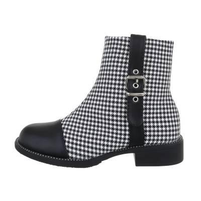 Klassische Stiefeletten für Damen in Schwarz und Grau