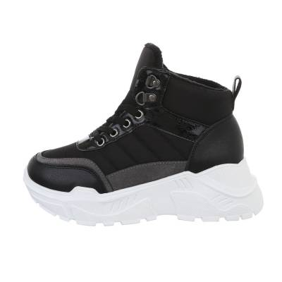 Sneakers high für Damen in Schwarz und Weiß