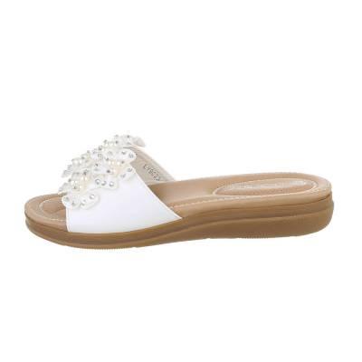 Pantoletten für Damen in Weiß