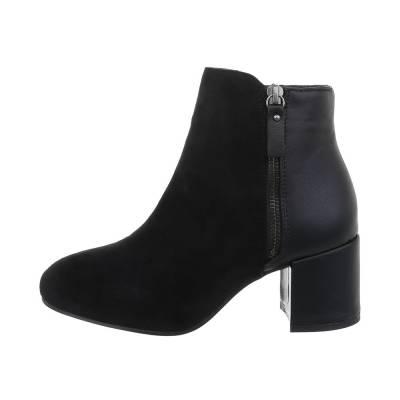 Klassische Stiefeletten für Damen in Schwarz