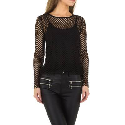 Langarmshirt für Damen in Schwarz