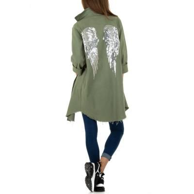Kurzmantel für Damen in Grün