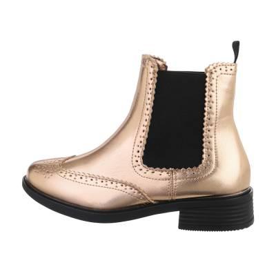 Chelsea Boots für Damen in Gold und Rosa