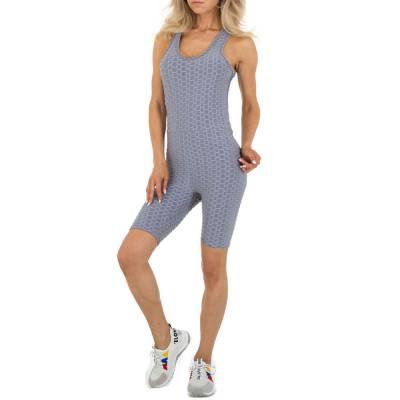 Kurzer Jumpsuit für Damen in Grau