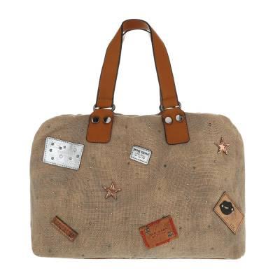 Große Damen Tasche Beige Braun