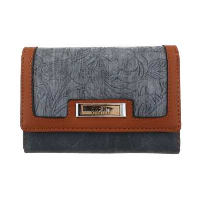 Portemonnaie Damen Geldbörse Blau Braun