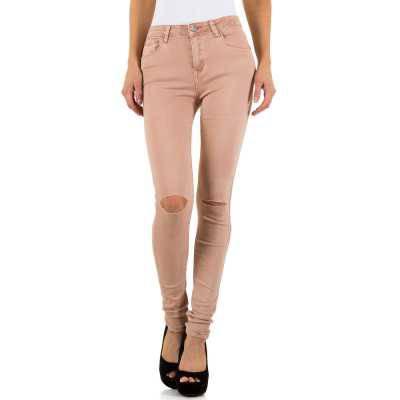 High Waist Jeans für Damen in Orange
