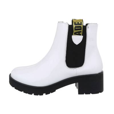 Chelsea Boots für Damen in Weiß und Schwarz