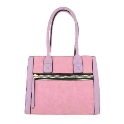 Mittelgroße Damen Tasche Rosa Gold
