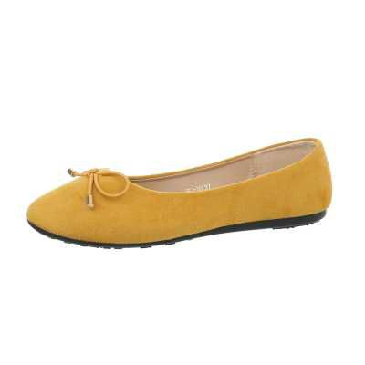 Klassische Ballerinas für Damen in Gelb