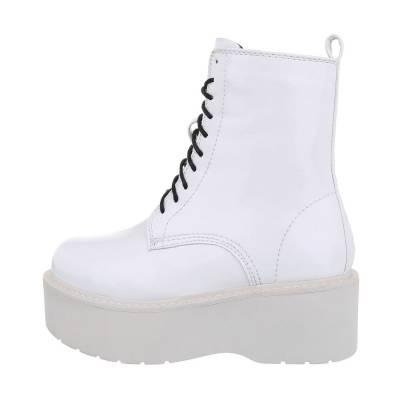Schnürstiefeletten für Damen in Weiß