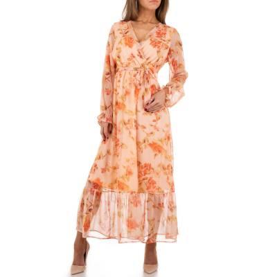 Maxikleid für Damen in Orange