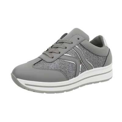 Sneakers low für Damen in Grau und Silber