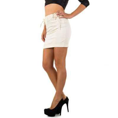 Minirock für Damen in Beige