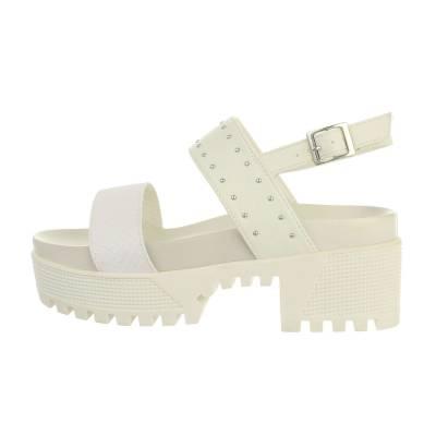 Plateausandaletten für Damen in Weiß