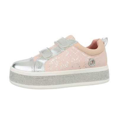 Sneakers low für Damen in Rosa und Silber