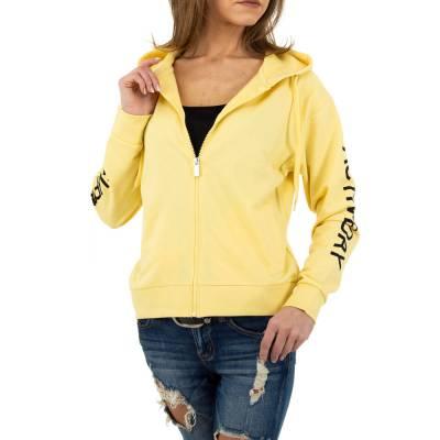 Sweatjacke für Damen in Gelb