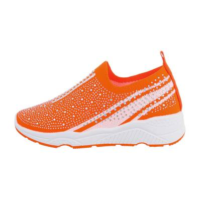 Sneakers low für Damen in Orange und Weiß