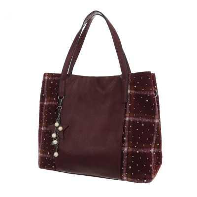 Mittelgroße Damen Tasche Bordeaux