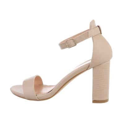 High Heel Sandaletten für Damen in Beige