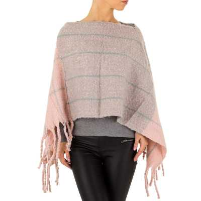 Poncho/Cape für Damen in Rosa