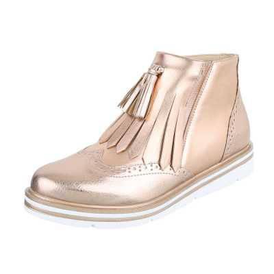 Klassische Stiefeletten für Damen in Gold
