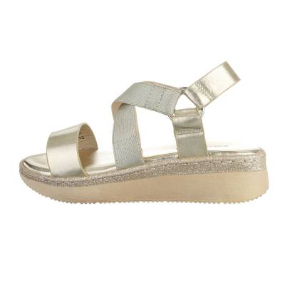 Riemchensandalen für Damen in Gold