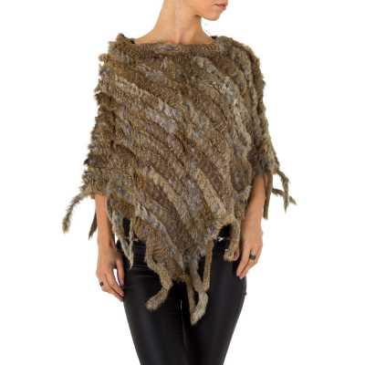 Poncho/Cape für Damen in Braun