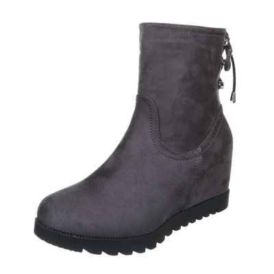 Keilstiefel für Damen in Grau