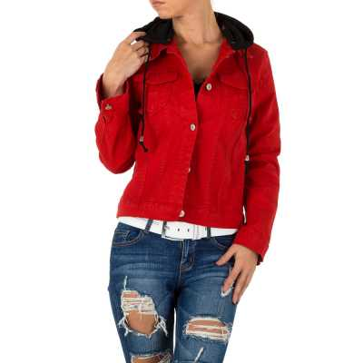 Jeansjacke für Damen in Rot