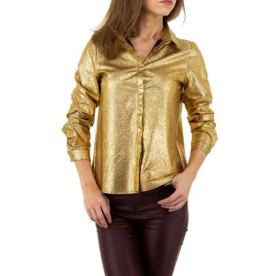 Hemdbluse für Damen in Gold