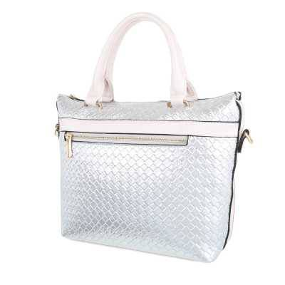 Mittelgroße Damen Tasche Silber