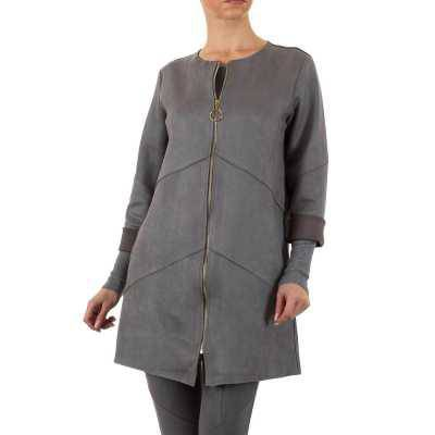 Kurzmantel für Damen in Grau