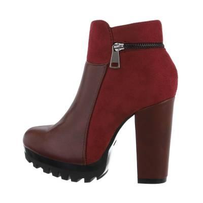 High Heel Stiefeletten für Damen in Rot