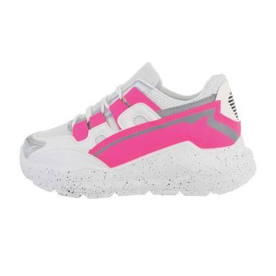 Sneakers low für Damen in Weiß und Pink