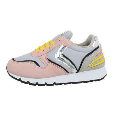 Sneakers low für Damen in Rosa und Grau