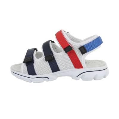 Jungen Kinder Sandalen Weiß Blau