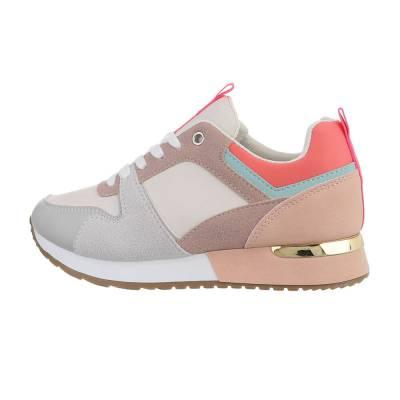 Sneakers low für Damen in Grau und Rosa